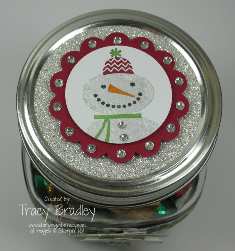 Snowman jar top