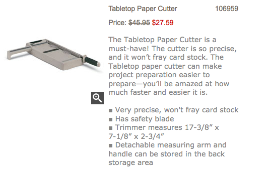 Tabletop Paper Cutter