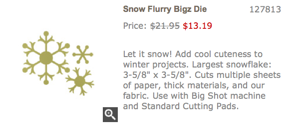 Snow Flurry Bigz Die