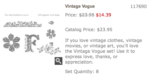 Vintage Vogue stamp set