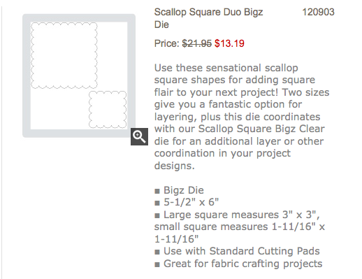 Scallop Square Duo