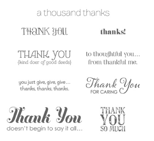 Lots of Thanks Wood #129687   Clear #129690