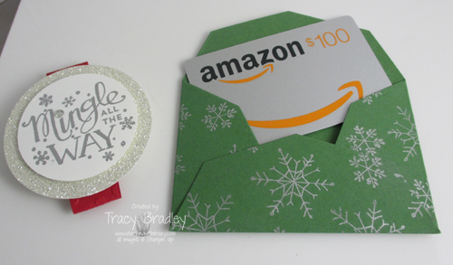 gift card envelope open