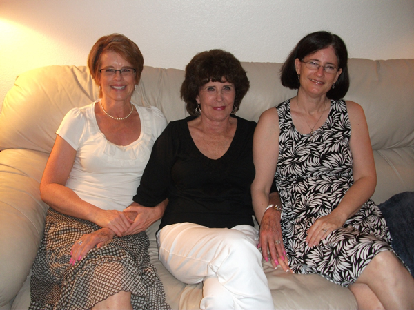My sister, Lisa, Mom and I