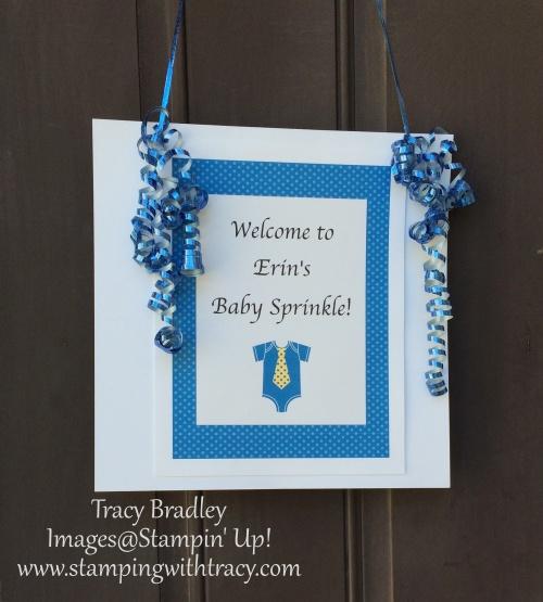 baby sprinkle sign for door