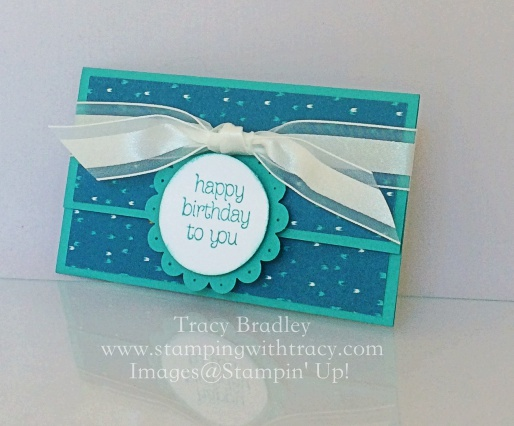 Happy Birthday Gift Card Holder Stamping With Tracy