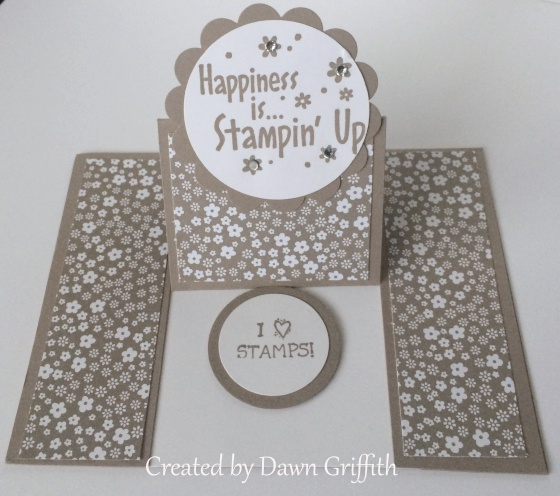 center easel card from dawn