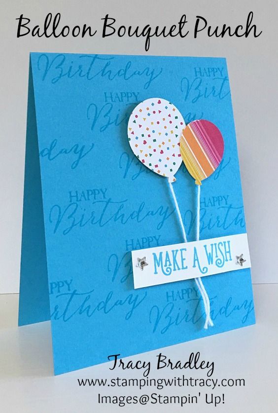 Balloon Bouquet Birthday Card Stamping With Tracy