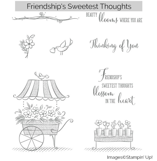 Friendship's Sweetest Thoughts, stamp set, Stampin' Up!