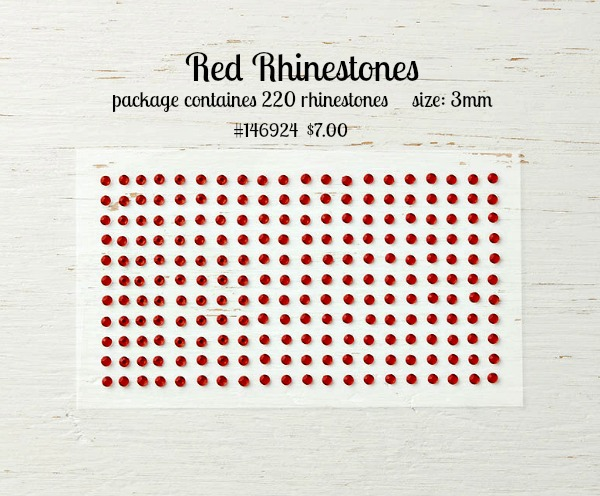 red rhinestones Stampin up