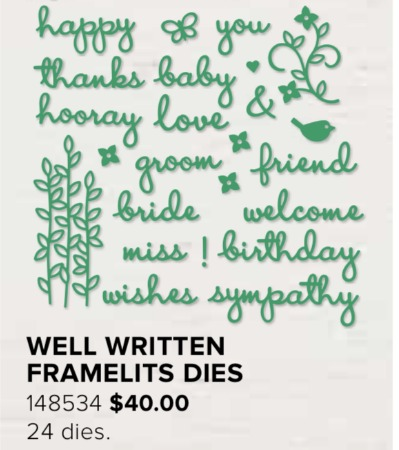 Well Written Framelits Dies