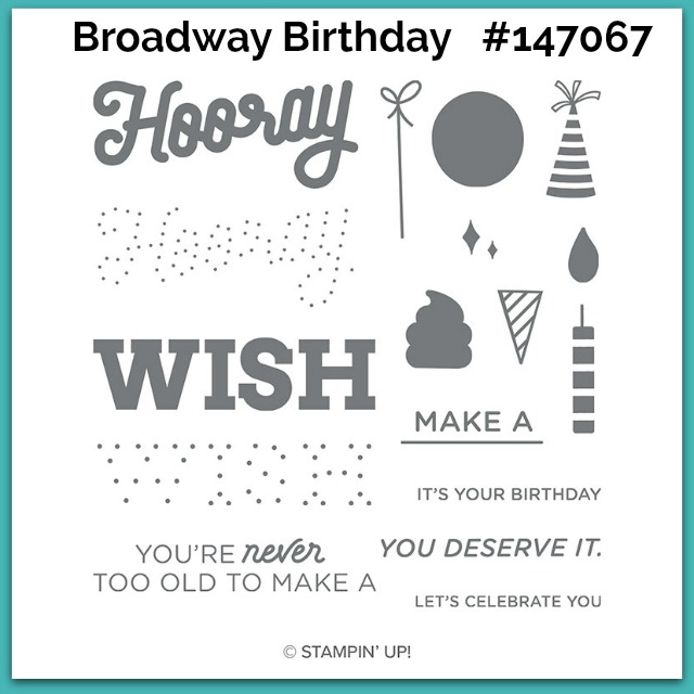 Broadway Birthday Stampin' Up!