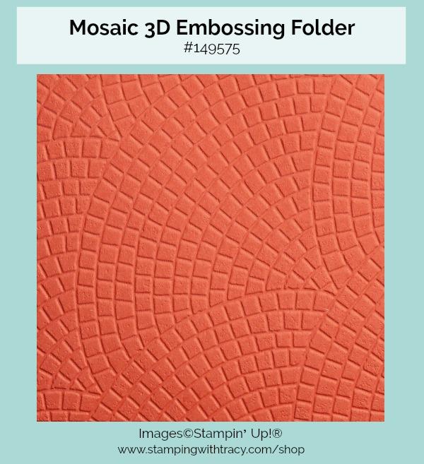 Mosaic 3D Embossing Folder