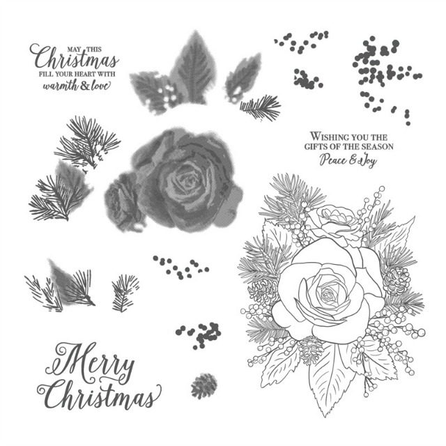 Christmas Rose Stamp Set