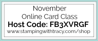 November Online Card Class Host Code