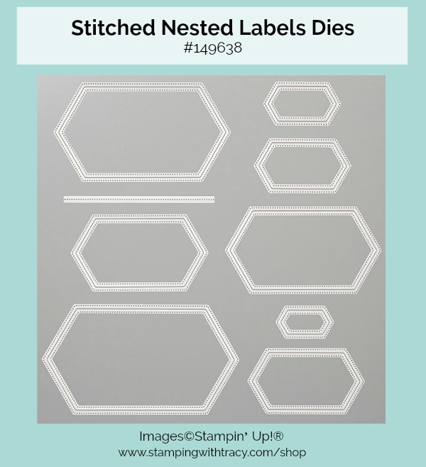 Stitched Nested Labels Dies