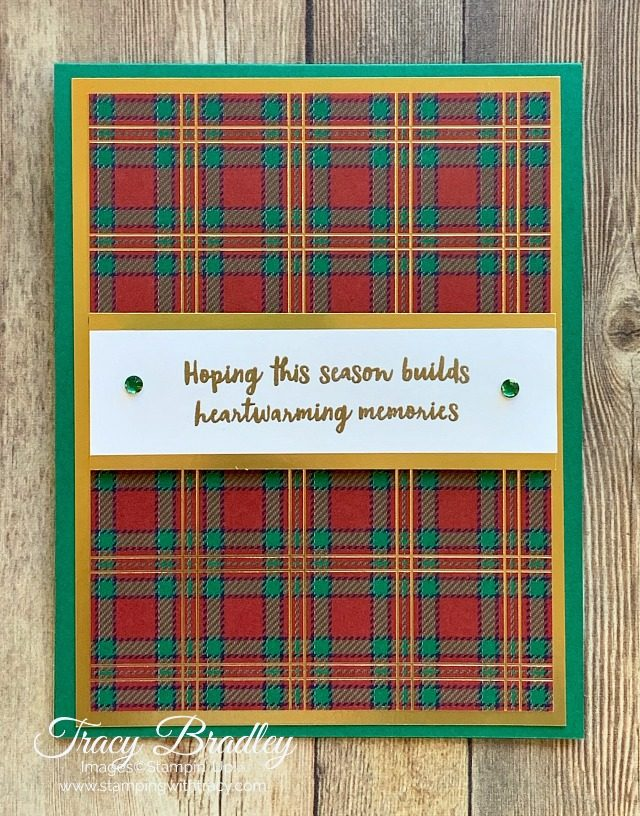 Gold Foil Wrapped in Plaid