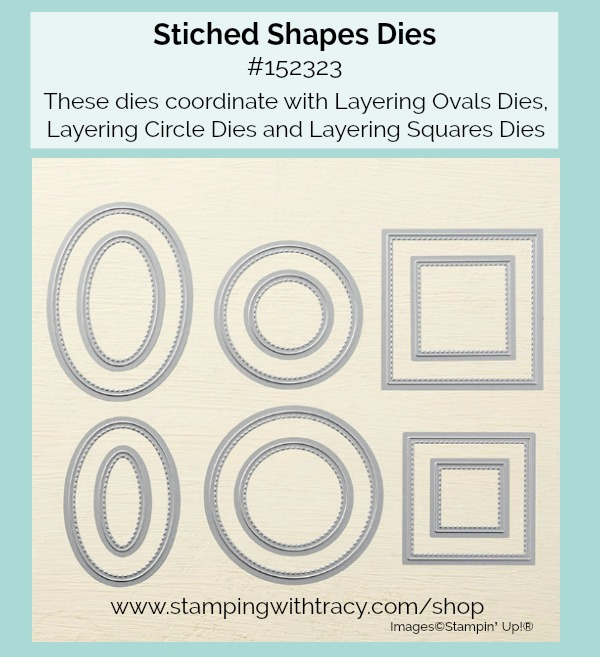 Stitched Shapes Dies Stampin Up