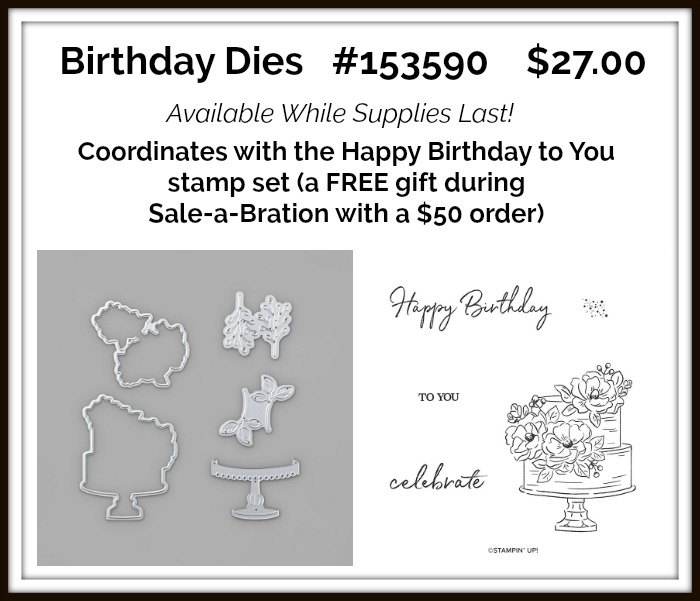 Birthday Dies Stampin Up