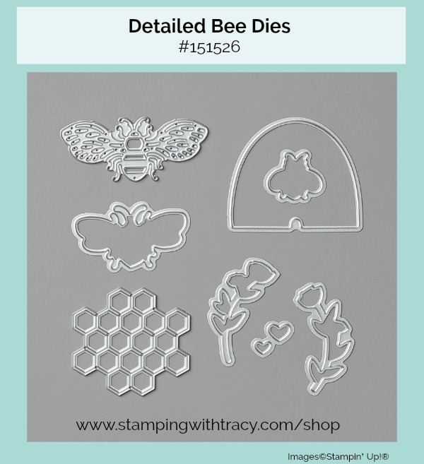 Detailed Bee Dies Stampin Up