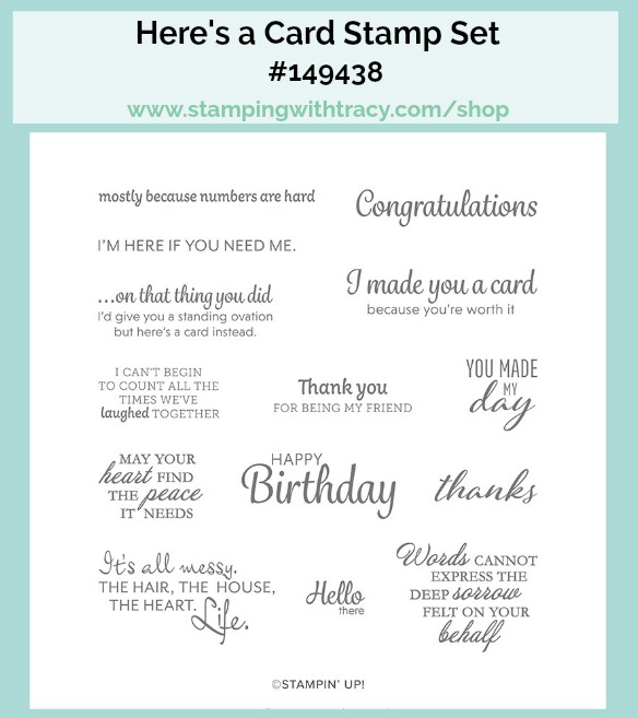Here's a Card Stamp Set