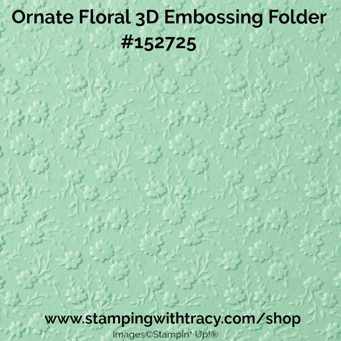 ornate floral embossing folder