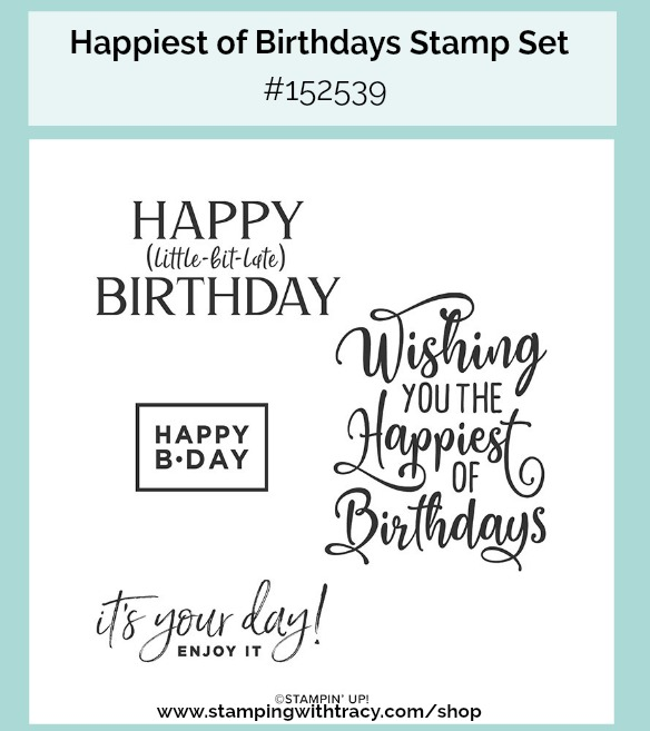 Happiest of Birthdays stamp set