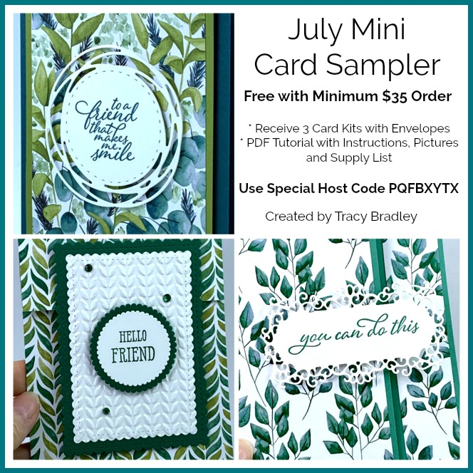 July Mini Card Sampler