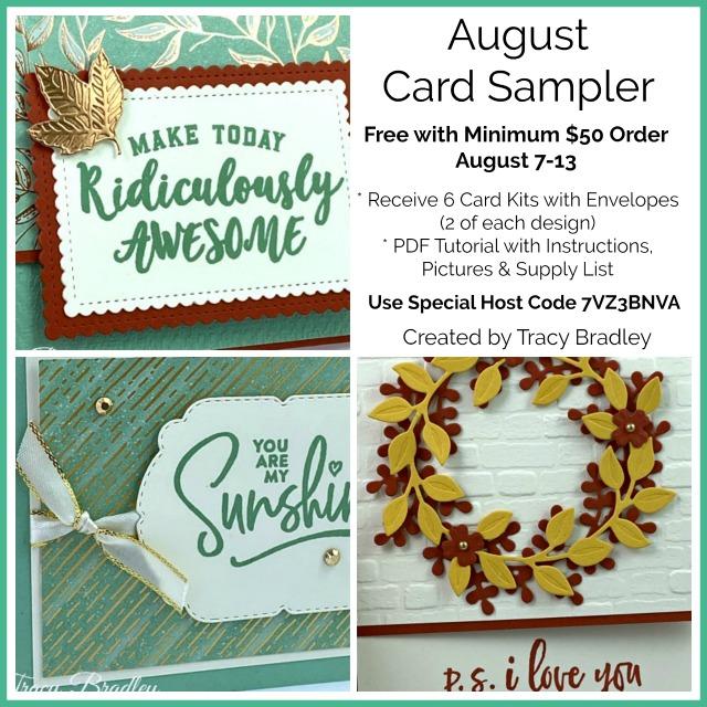 August Card Sampler