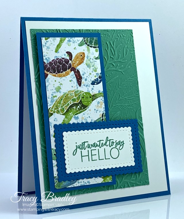 Stampin Up! Seabed Embossing Folder
