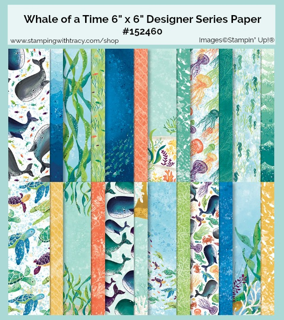 Whale of a Time Patterned Paper
