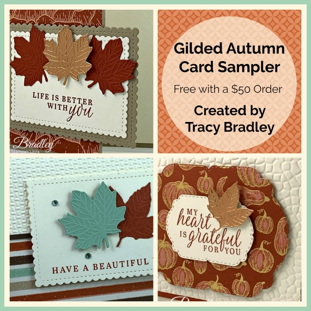 Gilded Autumn Card Sampler
