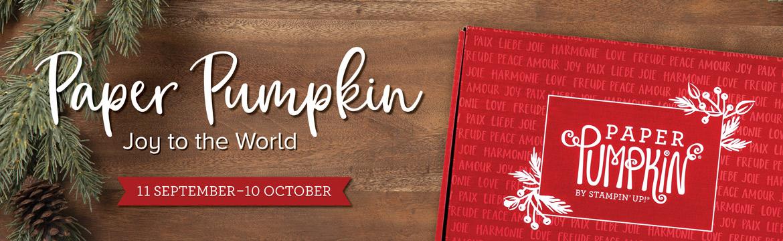 Paper Pumpkin Joy to the World