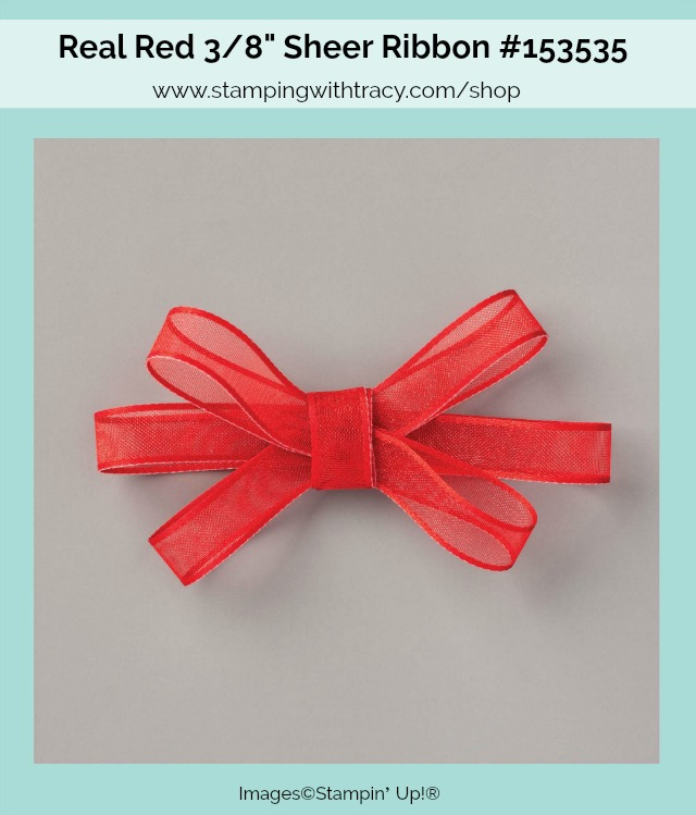 Real Red Sheer Ribbon Stampin Up