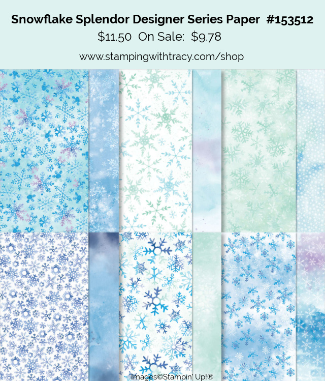 Snowflake Splendor Designer Series Paper