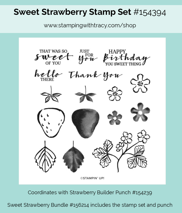 Sweet Strawberry stamp set