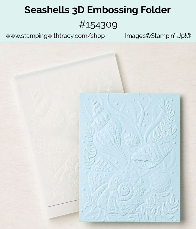Seashells 3D Embossing Folder