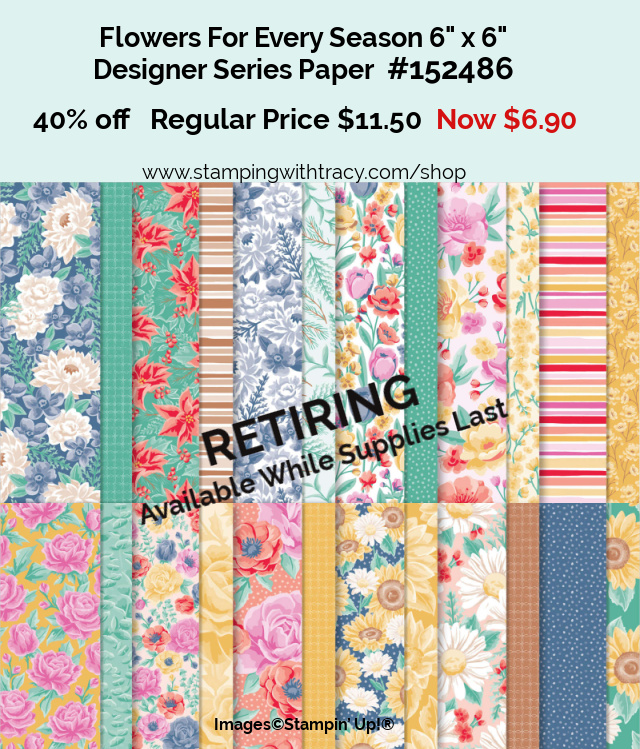 Flowers For Every Season Designer Series Paper