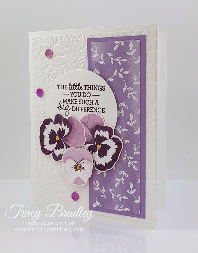 Pansy Patch Designer Series Paper