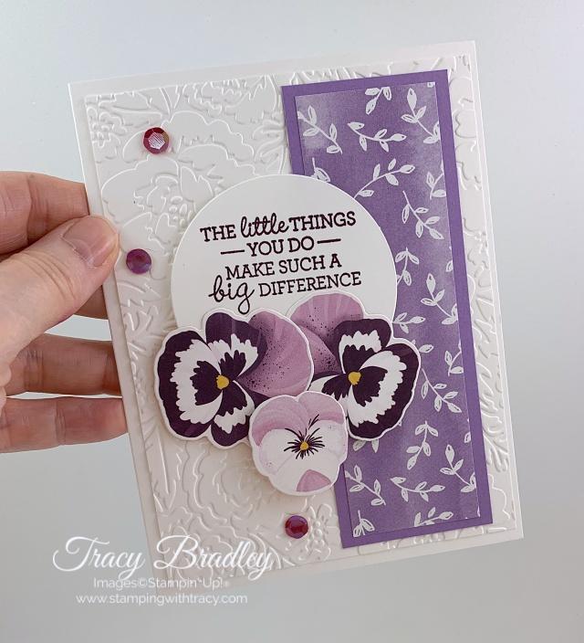 Pansy Petals Designer Series Paper