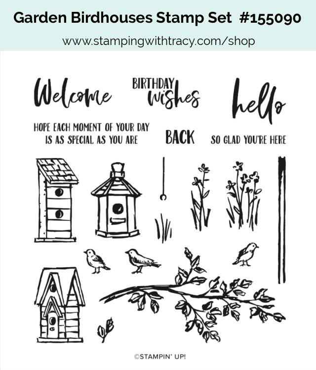 Garden Birdhouses stamp set