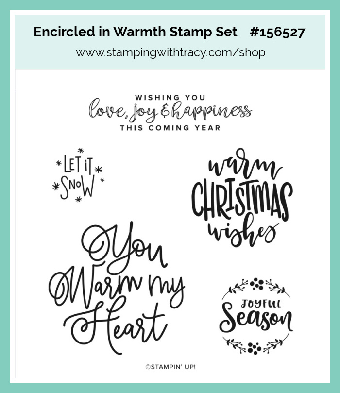 Encircled in Warmth Stamping with Tracy
