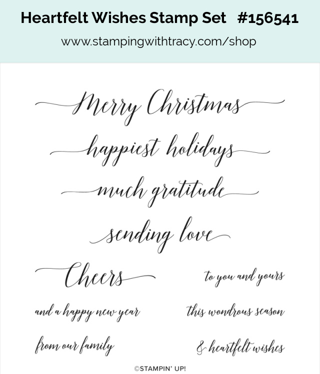 Stampin Up Heartfelt Wishes
