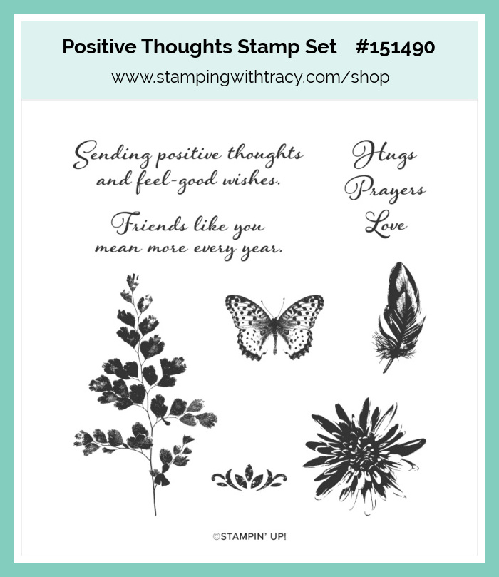 Stampin Up Positive Thoughts